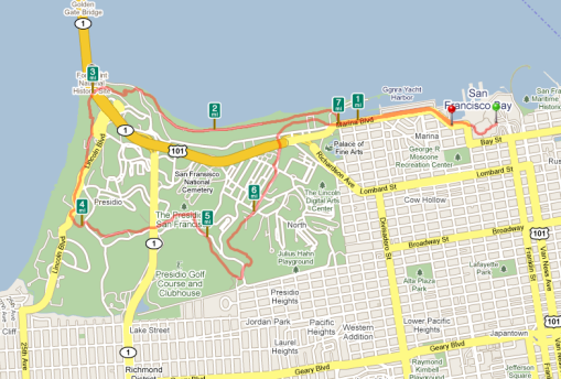 Fort Mason to Inspiration Point Loop